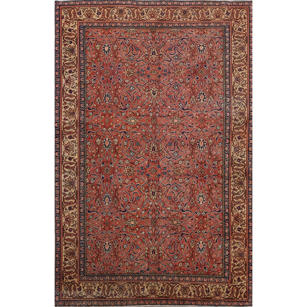 Vegetable Dye Anatolian Turkish Foyer Size Area Rug Wool Hand Knotted 3 8 X 7 0 3 8 X 7 0 Rust From Overstock Com Ibt Shop