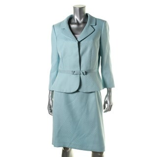 Tahari ASL Womens Tina Herringbone 2PC Skirt Suit