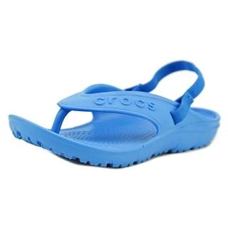 Crocs Hilo Flip Youth Open Toe Synthetic Blue Thong Sandal
