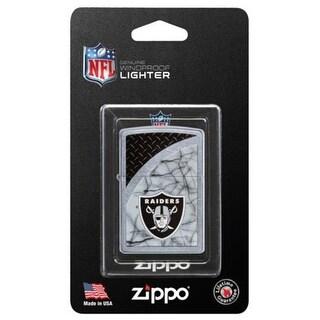 Zippo 29373BP-PPK NFL Raiders Windproof Lighter, Street Chrome