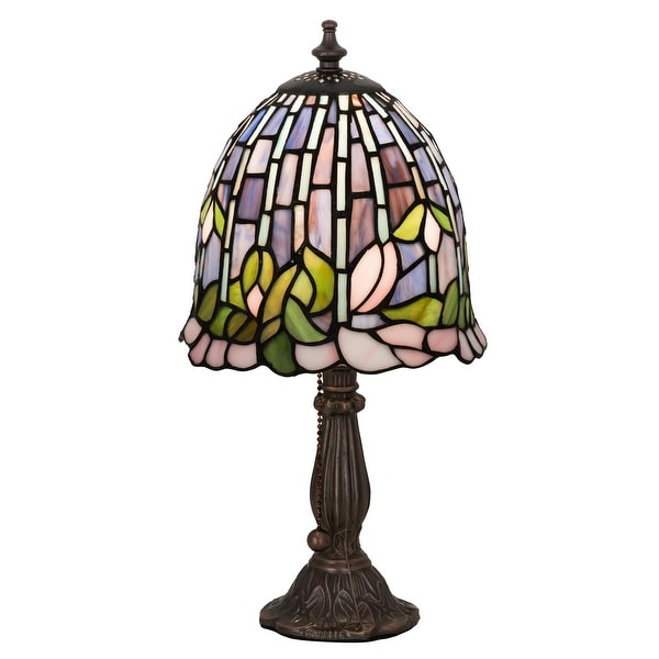 15 Inch H Flowering Lotus Accent Lamp