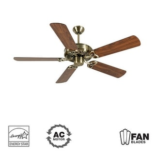 """Craftmade K10924 CXL 52"""" 5 Blade Energy Star Indoor Ceiling Fan - Blades Included - Antique Brass"""