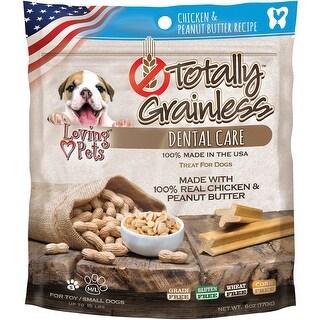 Chicken & Peanut Butter - Totally Grainless Dental Bones For Large Dogs 6Oz