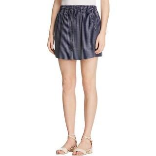 Joie Womens Wendolyn Mini Skirt Silk Pinstripe