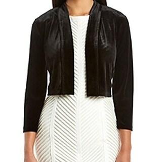 Calvin Klein NEW Black Women's Size Large L Velvet Bolero Shrug