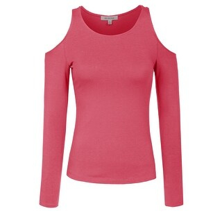 NE PEOPLE Womens Open Shoulder Seamless Long Sleeve Top [NEWT304]