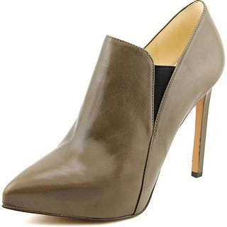 Nine West Leandra Women Pointed Toe Leather Gray Bootie