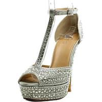 Thalia Sodi Flor   Open Toe Canvas  Platform Sandal