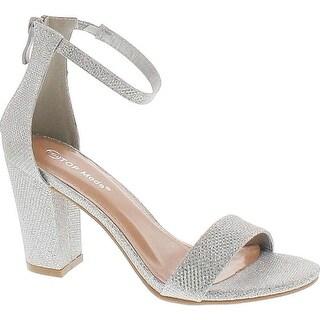 Link to Top Moda Womens Hannah-1 Platform Chunky Heel Metallic Glitter Party Ankle Strap High Heel Sandal Similar Items in Earrings