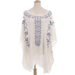 Shine Mark Accessories MSF770-1-01 Floral Blouse - Cream