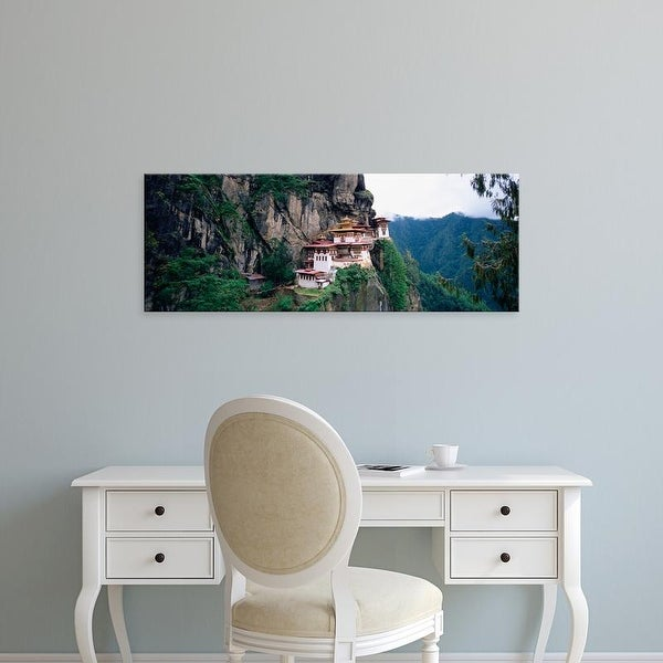 Easy Art Prints Panoramic Images's 'Monastery On A Cliff, Taktshang Monastery, Paro, Bhutan' Premium Canvas Art