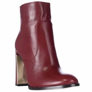 Calvin Klein Karlia Dress Ankle Boots - Dark Red