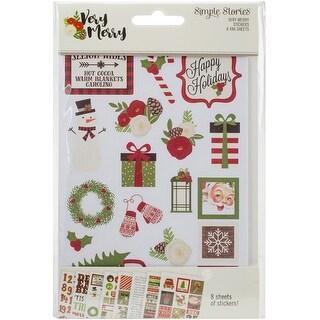 "Very Merry Stickers 4""X6"" 8/Pkg-"