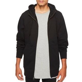 Adidas NEW Black Mens Size Medium M Drawstring Full Zip Hooded Sweater