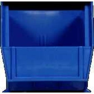 "Quantum QU5230BL Blue Polypropylene Storage Bin, 10-7/8"" x 5-1/2"" x 5"""