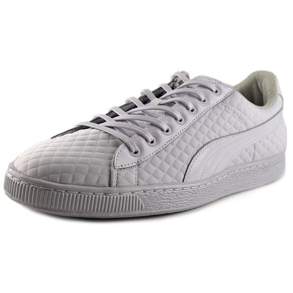 Puma Basket x Meek Bike Life Men Round Toe Canvas White Sneakers