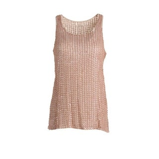 Renzo and Kai Womens Georgette Sequined Tank Top