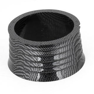 Unique Bargains Carbon Fiber Pattern Plastic Steering Wheel Hub Boss Adapter for Vehicle Car