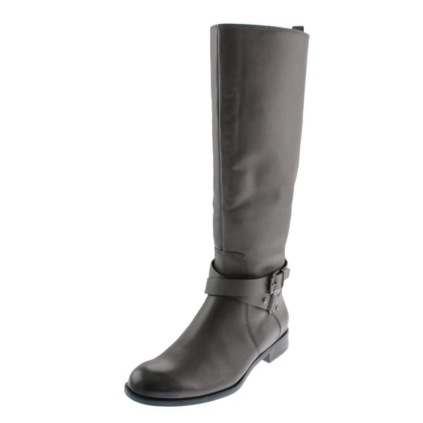 Enzo Angiolini Womens Daniana Riding Boots Leather Belted