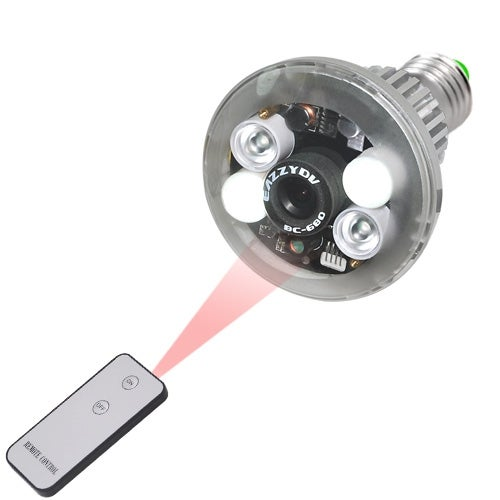 Spytec Light Bulb With Hidden 720P Hd Camera With Night Vision And Motion Activated Mode