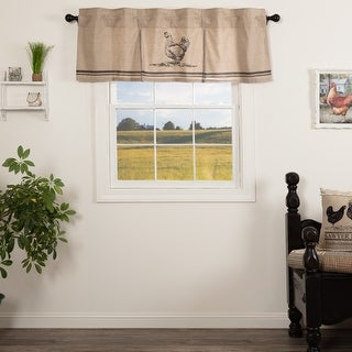Sawyer Mill Chicken Pleated Valance