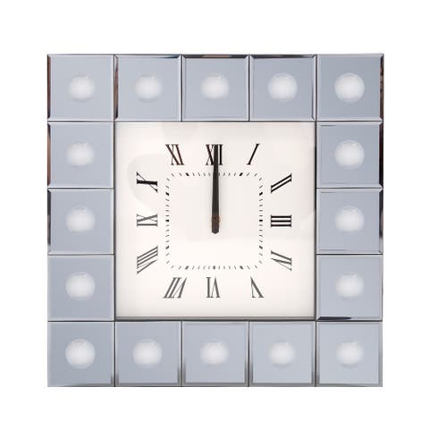 Grigio Mirrored Wall Clock
