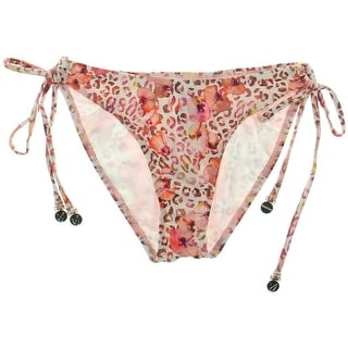 Minkpink Womens Side Tie Floral Print Swim Bottom Separates - S