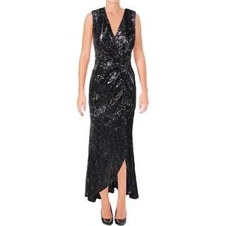 Aqua Womens Formal Dress Sequined Wrap