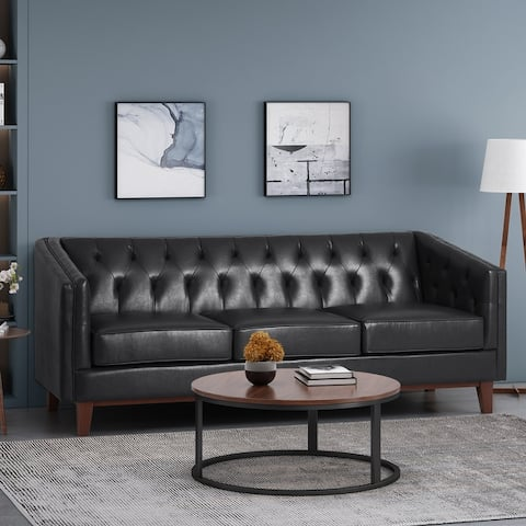Ovando Contemporary Upholstered 3 Seater Sofa by Christopher Knight Home