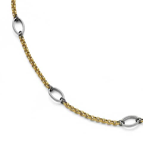 Chisel Stainless Steel Polished Gold IP Anklet (1 mm) - 9.5 in