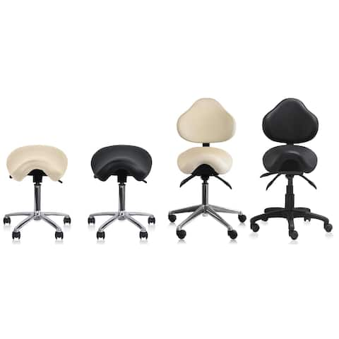Adjustable Black Firm Saddle Stool Tilt Chair With Wheels Salon Dental Hygienist Rolling Dentist Clinical Hospital Lab