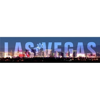 Past Time Signs PTS566 5 x 20 in. Las Vegas Satin Metal Sign