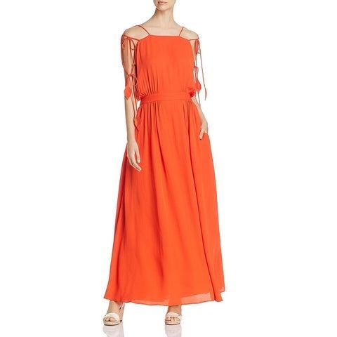 Tory Burch Womens Evalene Evening Dress Tassel Special Occasion