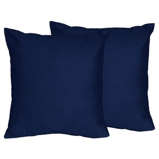 Link to Sweet Jojo Designs Navy Blue Decorative Accent Throw Pillow (Set of 2) Similar Items in Decorative Accessories