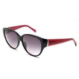 John Galliano Women's Cat Eye Two Tone Sunglasses Black/Red - Small