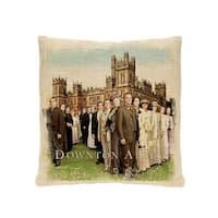 "18"" Downton Abbey Cast British Decorative Square Throw Pillow"
