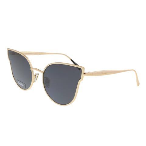 Max Mara MM ILDE III 02M2 Gold Cateye Sunglasses-Gold/Black Reflective Lens - 57-19-140