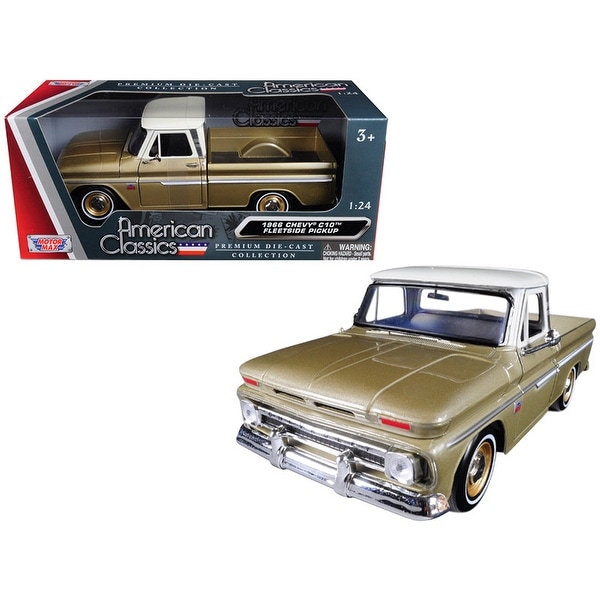 4d6ee6616830a Shop 1966 Chevrolet C10 Fleetside Pickup Truck Gold 1 24 Diecast Car Model  by Motormax - Free Shipping On Orders Over  45 - Overstock - 25486233