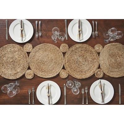 LR Home Natural Jute Braided Table Runner (1'4 x 6'8) - 1'4 x 6'8