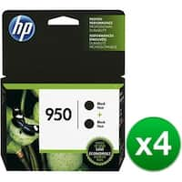 HP 950 Black Original 2 Ink Cartridge (L0S28AN)(4-Pack)