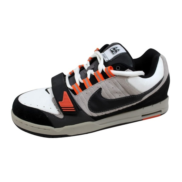 Nike Men's Air Heist White/Black-Metallic Silver-Orrange Blaze 317762-101 Size 12
