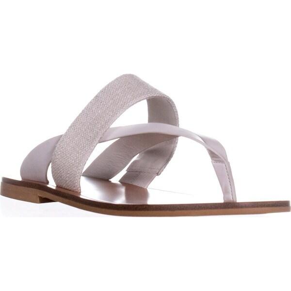VINCE Tess Slide Thong Flip Flops, Off White