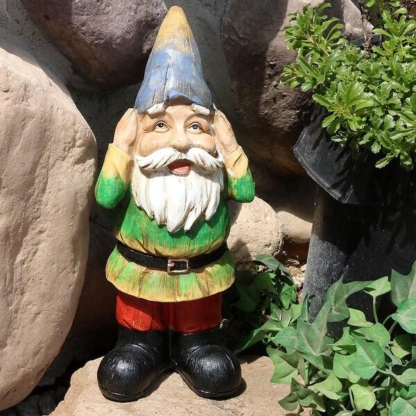 Sunnydaze Henry Hears No Evil Garden Gnome 12 Inch Tall