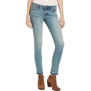 Free People Womens Bootcut Jeans Denim Raw Hem - 24