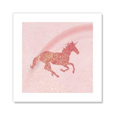 Glitter Unicorn I - Pink