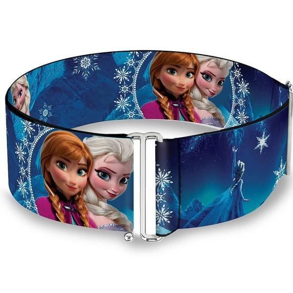 Anna & Elsa Poses Castle & Mountains Blues Cinch Waist Belt ONE SIZE