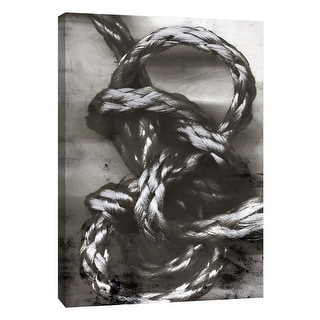 """PTM Images 9-105846  PTM Canvas Collection 10"""" x 8"""" - """"Knotted Rope Study 3"""" Giclee Abstract Art Print on Canvas"""