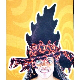 Flame Witch Hat - Black