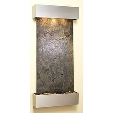 Adagio Cascade Springs With Green Featherstone in Stainless Steel Finish and Squ