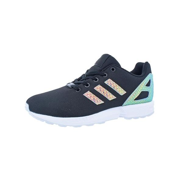 75b03047b7d27 Adidas Girls ZX Flux 3 Fashion Sneakers Big Kid Iridescent - 6 medium (b